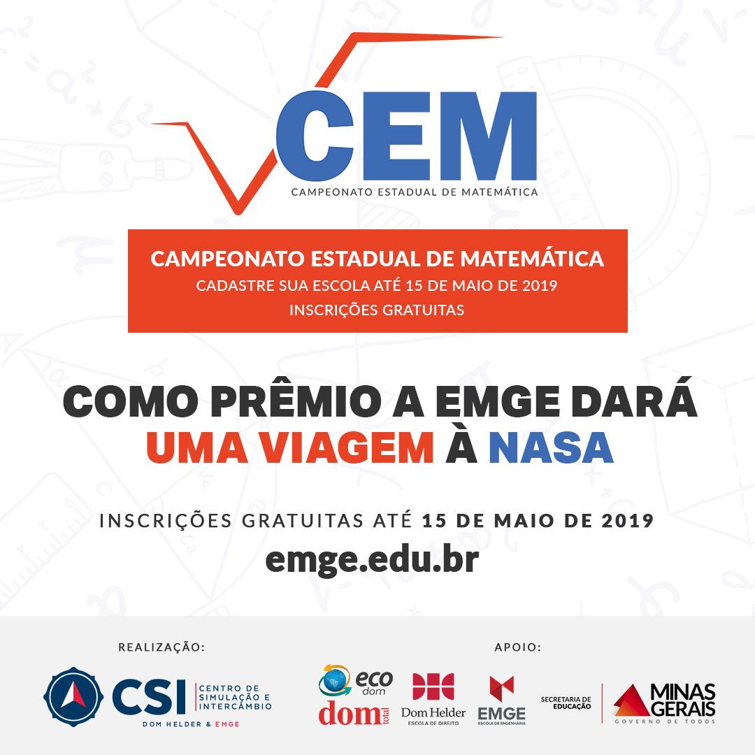 Promovido pela Escola de Engenharia de Minas Gerais (EMGE), o CEM tem inscrições abertas até 15 de maio.
