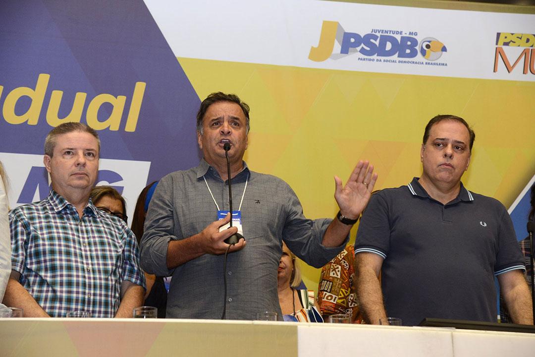 Ex-governador do Estado, Aécio já foi a maior liderança do partido em Minas, mas hoje tem atuação discreta após ter se tornado réu na Operação Lava Jato.