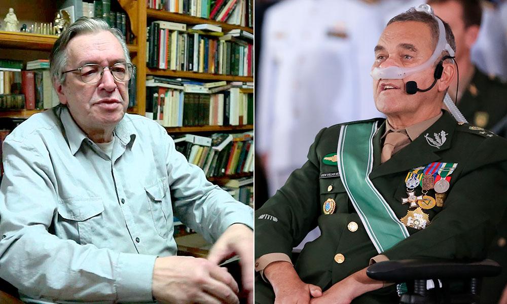 Escritor humilha um dos principais militares brasileiros e Bolsonaro fica do lado de Olavo.