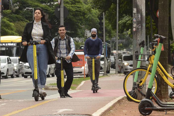Circulação com patinetes elétricos invadiram as ruas das grandes cidades nos últimos meses.