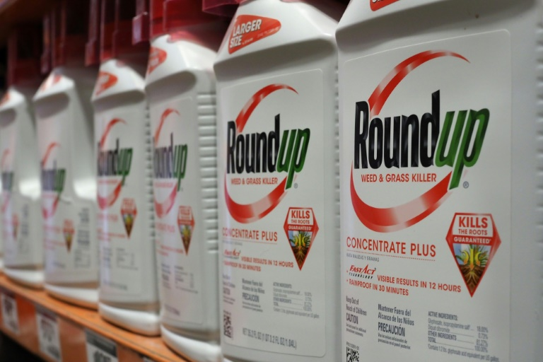 Garrafas do pesticida Roundup, da Monsanto, expostas em uma loja em Glendale, Califórnia, 19 de junho de 2018.
