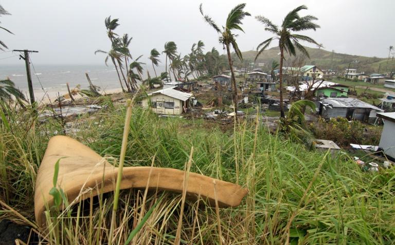 Ilhas Fiji, após passagem do furacão Winston em fevereiro de 2016.