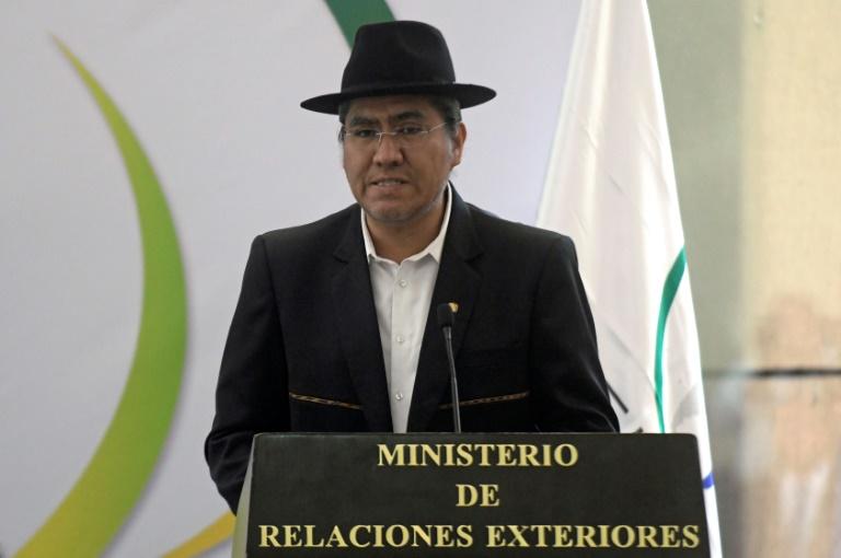 O chanceler boliviano, Diego Pary, em 14 de janeiro de 2019, em San Salvador