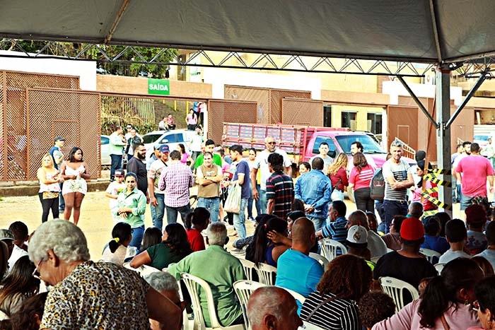 Treinamento de evacuação em caso de emergência, em Barão de Cocais, onde o medo cresce a cada dia.