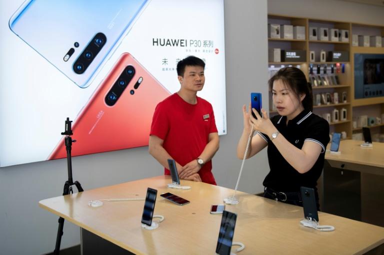 Loja da Huawei em Pequim, em 21 de maio de 2019