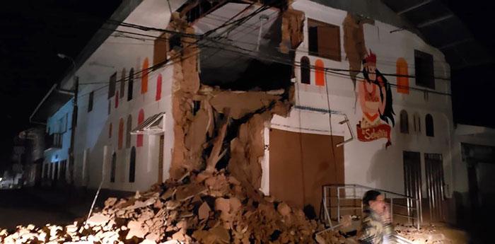 Yurimaguas, a cidade mais próxima do epicentro, foi uma das áreas com danos materiais, de acordo com as primeiras informações.