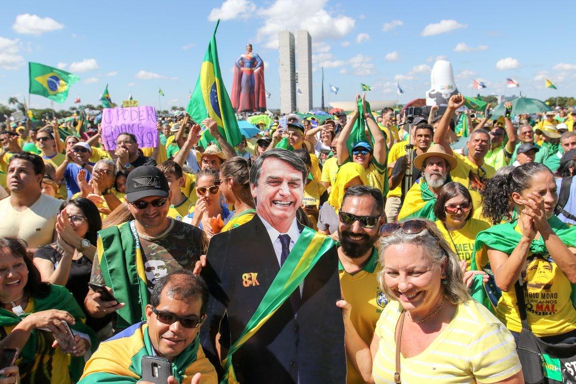 Ato em apoio ao governo de Jair Bolsonaro.