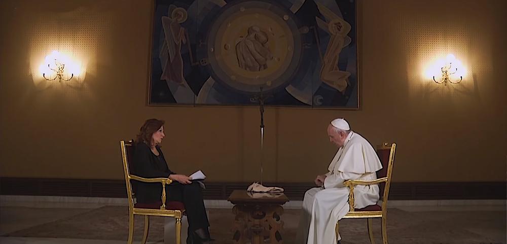 Francisco concedeu entrevista a Valentina Alazraki, da Televisa, México.