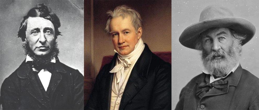Henry David Thoreau, Alexander Von Humboldt e Walt Whitman