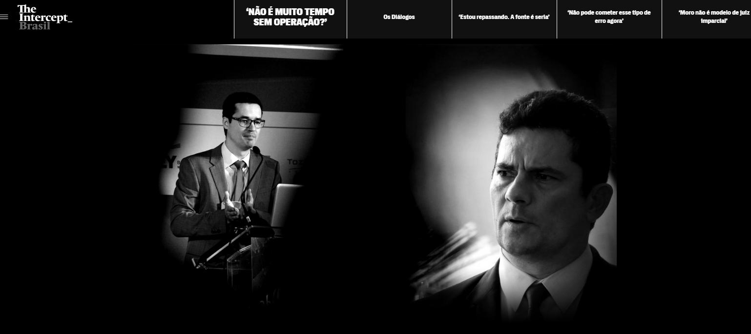 The Intercept Brasil afirmou que recebeu o material de fonte anônima.