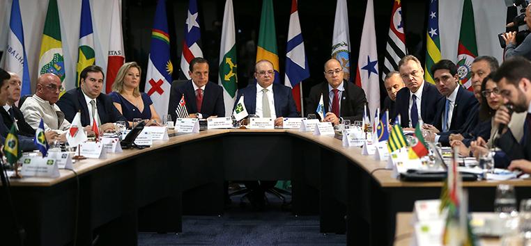 A reunião deixou uma impressão favorável entre os governadores sobre as chances de apoio do relator e do presidente da Câmara, Rodrigo Maia.