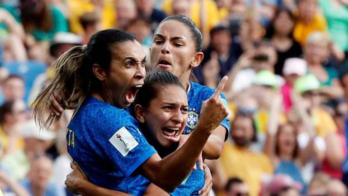 Marta fez o seu primeiro jogo no Mundial Feminino da França nesta quinta-feira.