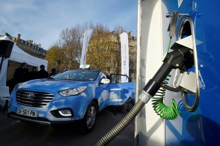Posto de hidrogênio em Paris.