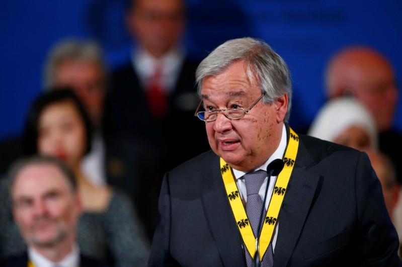 'Conto com vocês, mais uma vez, para demonstrarem a liderança da União Europeia', disse Guterres na carta para Tusk.
