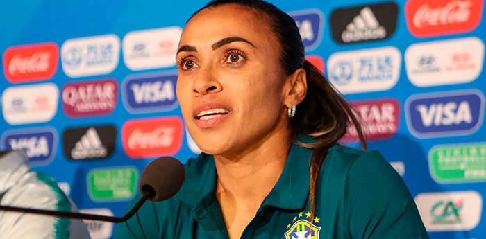Marta está confirmada no jogo decisivo contra a Itália.