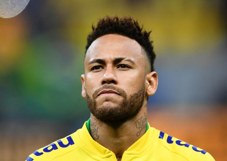 Neymar antes de amistoso do Brasil contra o Catar, 5 de junho de 2019 em Brasília