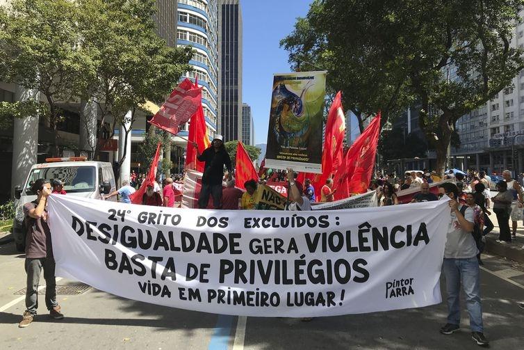 24ª edição do Grito dos Excluídos, reuniu representantes de movimentos sociais, em 7 de setembro de 2018.