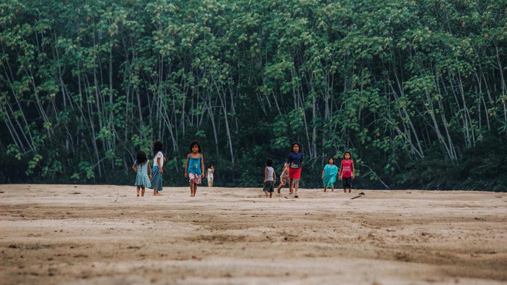 Comunidade indígena koreguaje em Caquetá, na Amazônia colombiana.