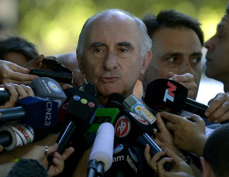 Fernando De La Rua diante da Corte Federal da Argentina, em Buenos Aires, em 2013.