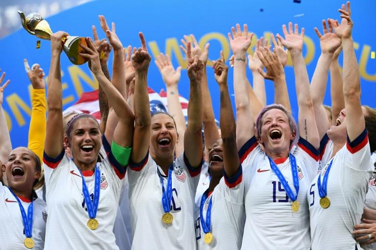 Jogadoras americanas conquistaram a Copa do Mundo feminina.