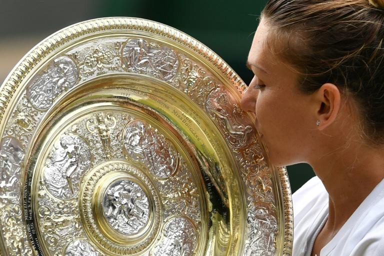 Simona Halep conquista o título de Wimbledon, em Londres.