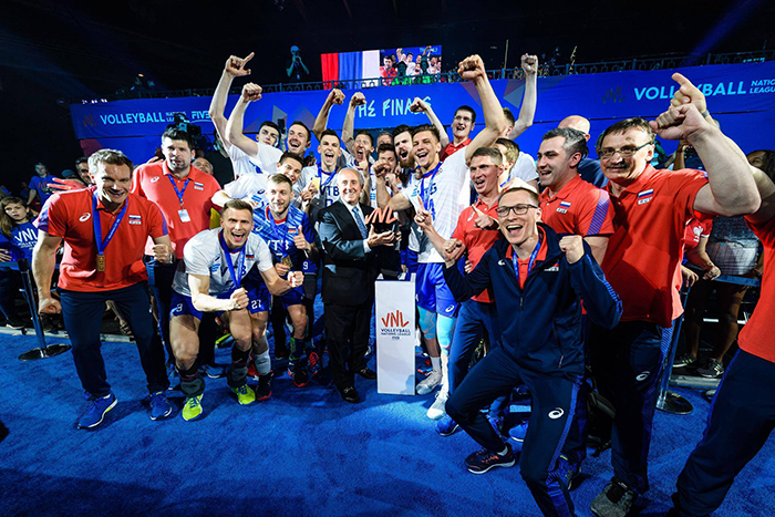 A Rússia contou com boa atuação coletiva para faturar o título, tendo quatro jogadores com ao menos dez pontos.