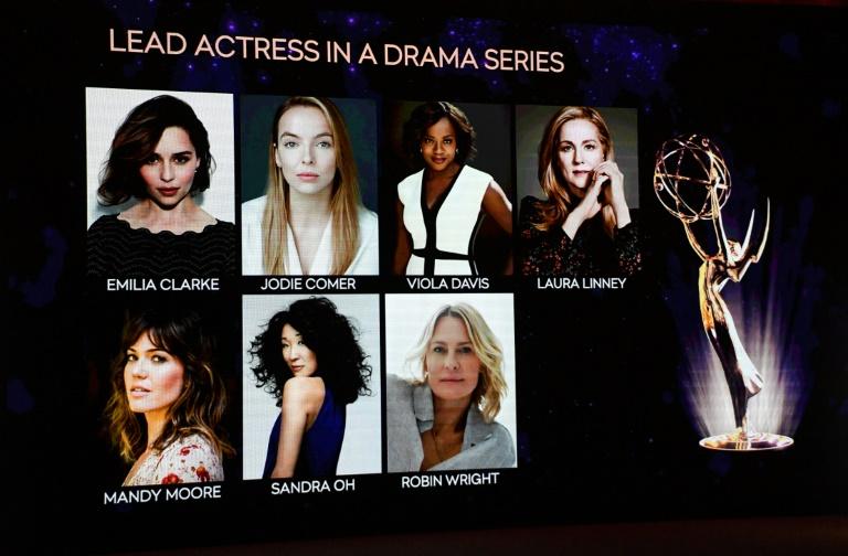 Painel mostra as indicadas ao Emmy de melhor atriz em série dramática, um dos prêmios a que 'Game of Thrones' concorre