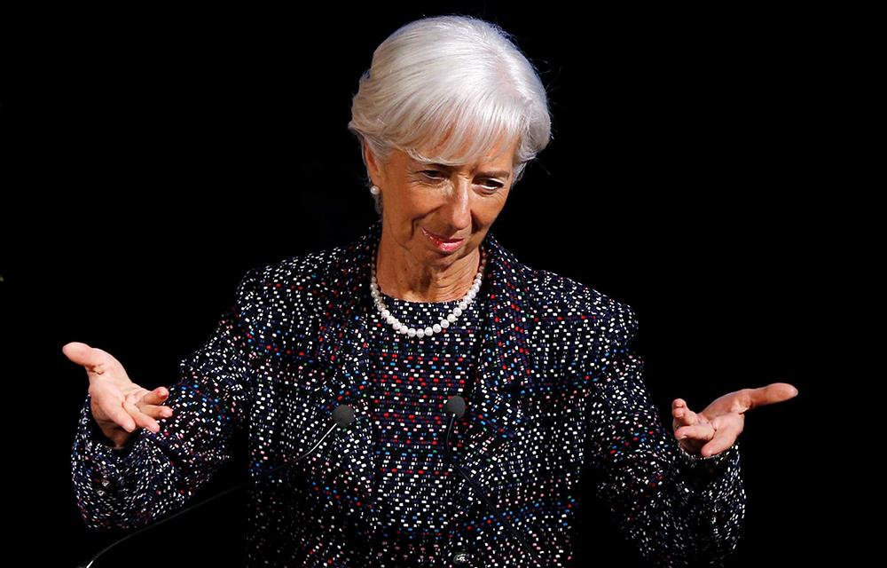 Christine Lagarde foi escolhida pelos líderes da União Europeia este mês para suceder a Mario Draghi à frente do BCE.