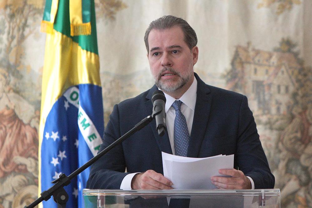 O presidente do Supremo Tribunal Federal (STF), Dias Tofolli, durante balanço do primeiro semestre no início de julho.