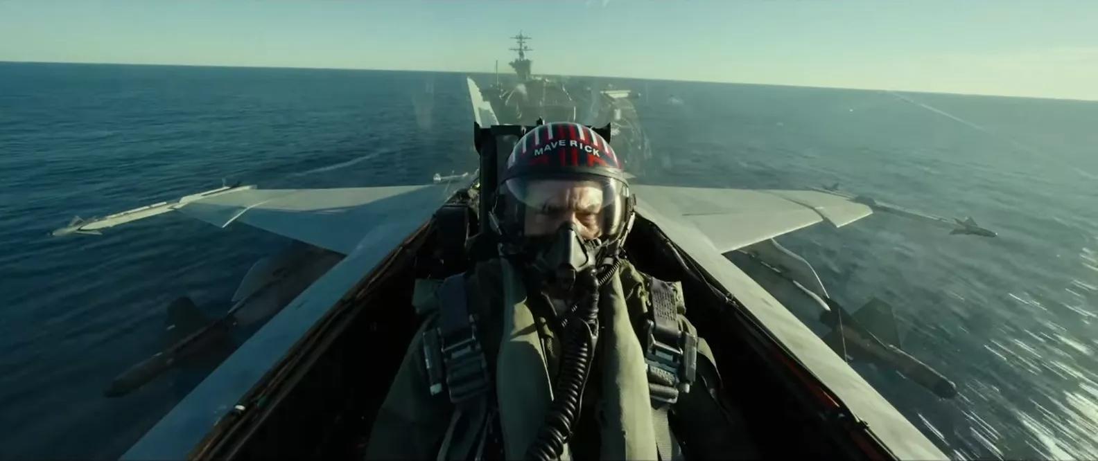 Cena do filme 'Top Gun: Maverick' que estreia em 2020.