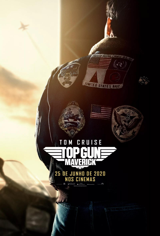 Cartaz do filme 'Top Gun: Maverick' que estreia em 2020.