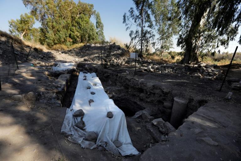 Vista geral das escavações arqueológicas no norte de Israel em busca do local de nascimento de São Pedro