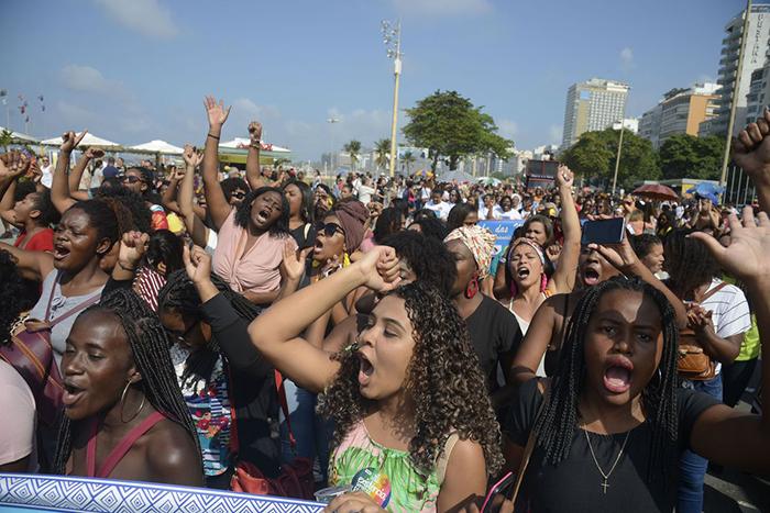 O ato contou com a presença de mulheres negras de todas as idades, que queriam mostraras questões que afligem e mobilizam as mulheres negras no Rio de Janeiro e no país.