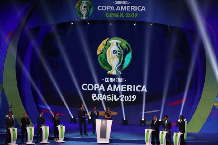 Sorteio da Copa América 2019.