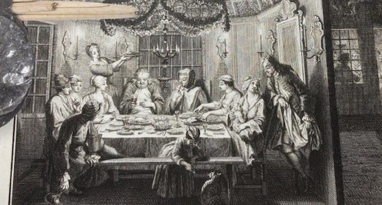 A festa das Cabanas, (ateliê de Bernard Picart, 1724) (Reprodução)