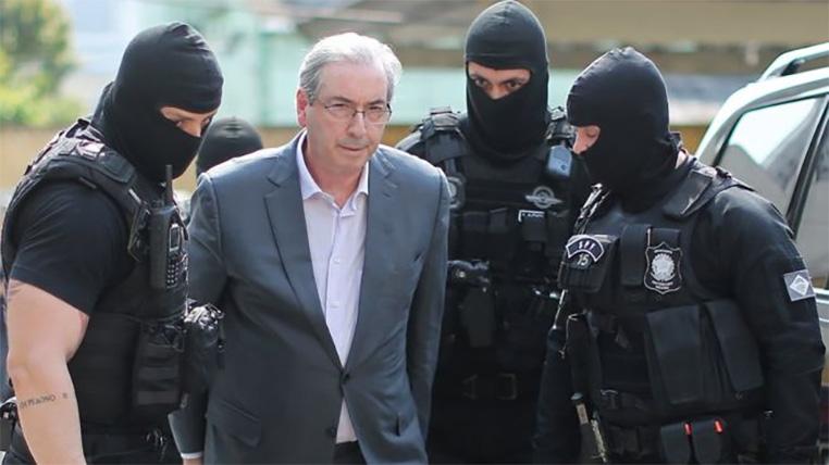 O ex-presidente da Câmara Federal Eduardo Cunha foi preso em outubro de 2016 e foi tema de conversa entre Deltan e Moro no Telegram.