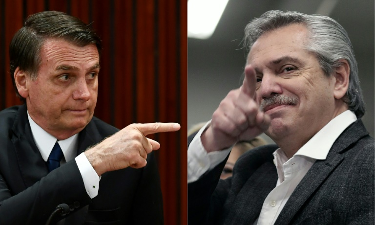 Alberto Fernández e Jair Bolsonaro multiplicaram os embates desde a vitória do peronista nas primárias da Argentina.