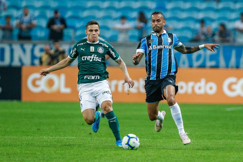 Palmeiras e Grêmio empataram pelo Brasileiro em prévia da Libertadores.