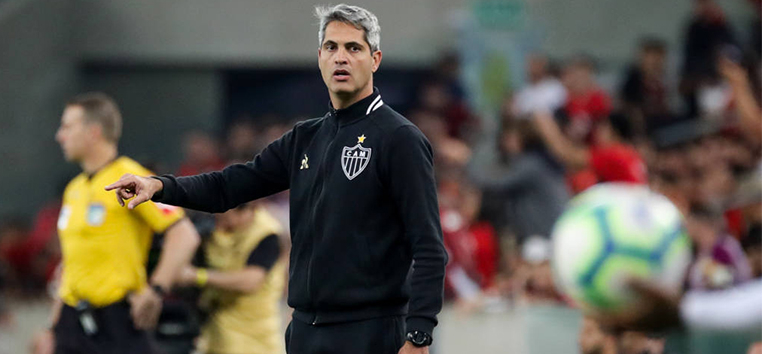 O técnico Rodrigo Santana conta com os titulares para o jogo pela Copa Sul-Americana. (Bruno Cantini/Atlético)