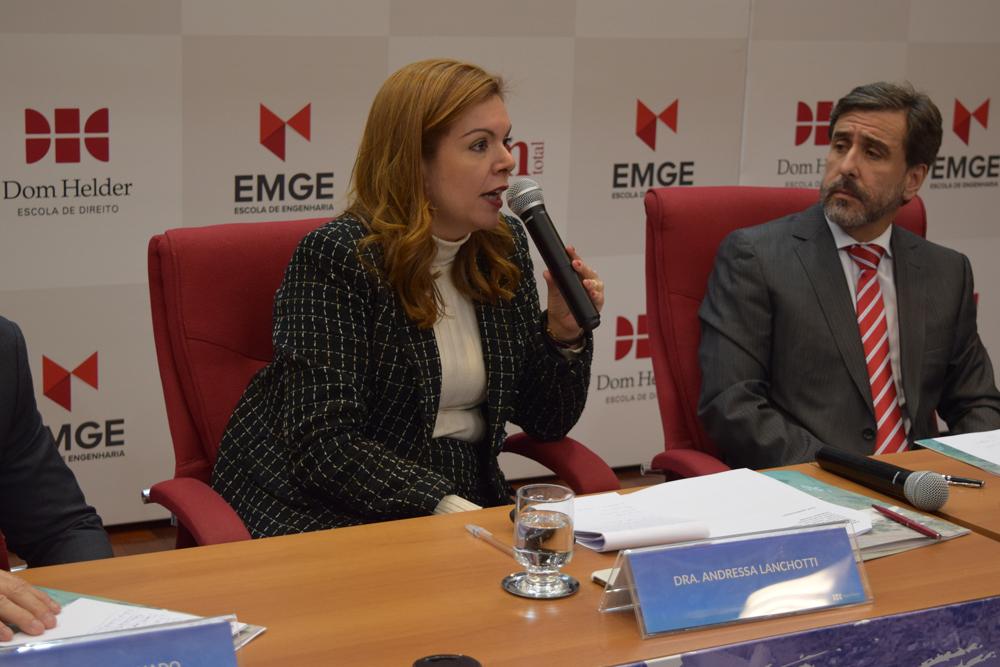 A promotora Andressa Lanchotti falou sobre 'A complexa jurisdição nos casos de Mariana e Brumadinho'.