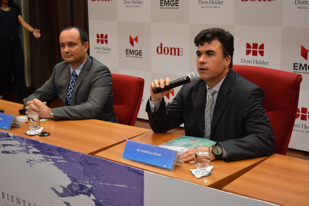 Professor Marcelo Kokke presidiu o último painel.
