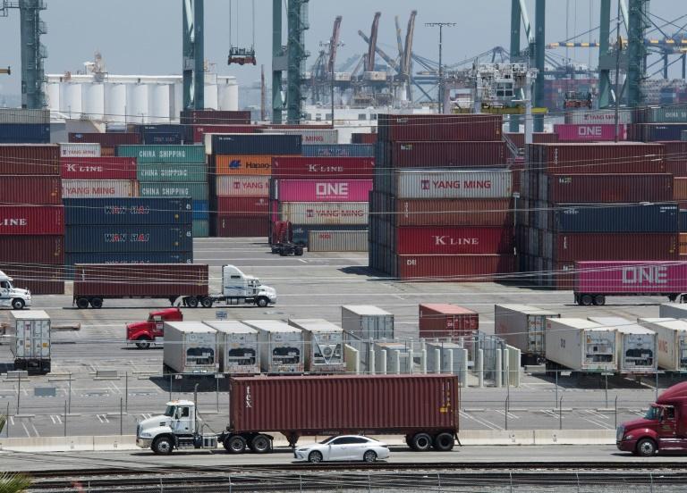 Contêineres procedentes da China no porto de Long Beach (Califórnia, Estados Unidos), em agosto de 2019.