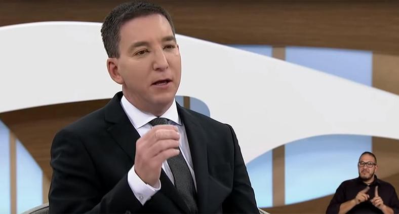 O único jornalista presente era justamente o entrevistado Glenn Greenwald.