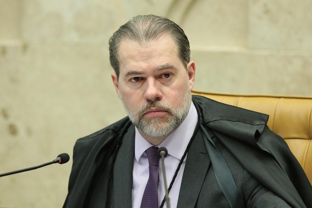 O presidente do STF, ministro Dias Toffoli, durante sessão do tribunal.