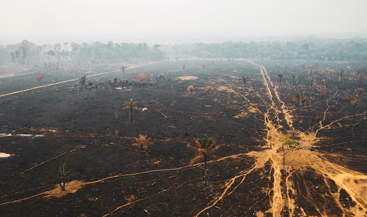 Queimadas em Rondônia, dentro da Floresta Amazônica, 25 de agosto de 2019.