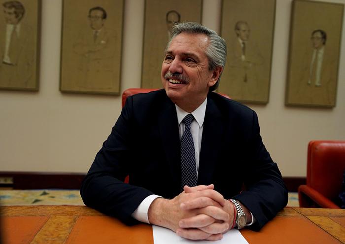Presidenciável argentino, Alberto Fernández.