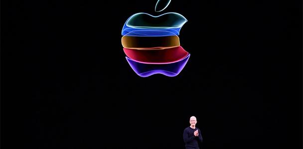 CEO da Apple, Tim Cook, no evento anual da empresa na sede principal de Cupertino, na Califórnia (AFP)