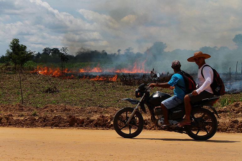Cidade de Lábrea, no Amazonas, onde queimadas e desmatamentos têm sido mais frequentes em 2019