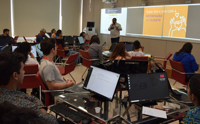 Palestrantes do workshop sobre experiências empreendedoras de prática jurídica. (Patrícia Almada/DomTotal)