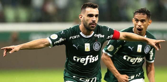 Bruno Henrique fez o gol da vitória alviverde.